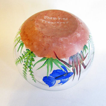 Beta Fish Bowl - Hand-painted Fish Tank - Decorative Glass Bowl