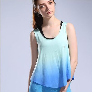 Women Gym Training Tee Fitness Sports T Shirt Yoga Workout Vest Exercise Running Clothing Sportswear Tank Tops Singlets Clothes
