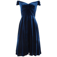 Buy Ariella Amelie Velvet Dress, Navy online at John Lewis