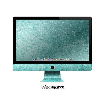 The Turquoise Mosaic Tiled Skin for the Apple iMac 27 Inch Desktop Computer for the iMac