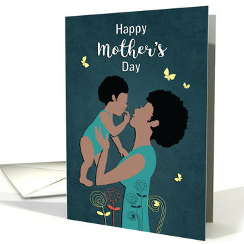 Happy Mother's Day with African American Mother and Baby card
