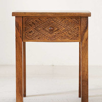 Amira Carved Wood Nightstand | Urban Outfitters