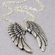 Angel wing friendship necklace set, 2 Silver Matching Wing Necklaces on sterling silver chain, bff necklaces