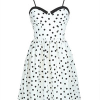 Bustier Dress in Dot