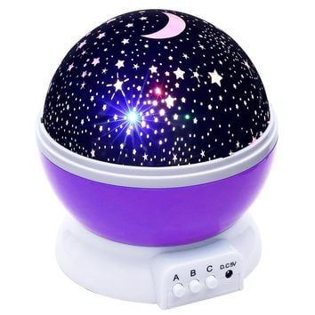 Premium Stars Starry Sky LED Night Light Projector Moon Novelty Table Night Lamp Battery USB Night Light For Children