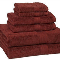 kassadesign bath towels | garnet