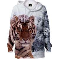 Siberian Tiger Hoodie created by ErikaKaisersot | Print All Over Me