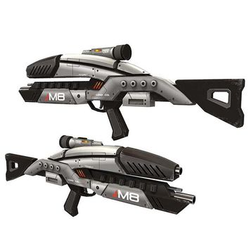 DIY 1:1 Mass Effect M8 Avenger Rifle Paper Model Assemble Hand Work 3D Puzzle Game Kids Toy