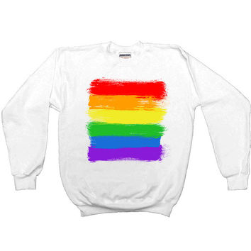 LGBTQIA+ Flag -- Women's Sweatshirt