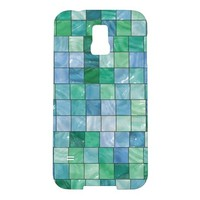 SHINY BLUE AND GREEN TILE M SAMSUNG GALAXY S5 CASE