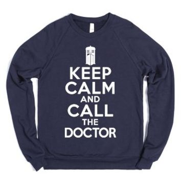 Keep Calm And Call The Doctor - Doctor Who Crewneck