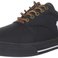 Polo Ralph Lauren Men's Vaughn Nylon Sneaker, Black, 8.5 D US