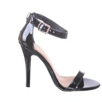 Patent Open Toe Ankle Single Strap High Heel Sandal