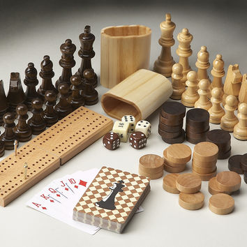 Chess and Checkers Wood Game Pieces