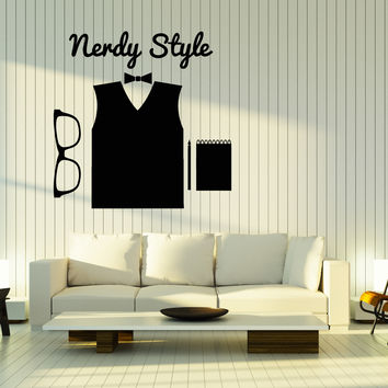 Wall Stickers Vinyl Decal Hipster Nerdy Style High Fashion Glasses Unique Gift (z2010)