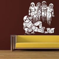 Wall Decal Vinyl Sticker Decals Art Decor The Cosmos Astronaut Mans Cosmonaut World Earth Dead People Aliens Mans gifts Style Bedroom ( r52)