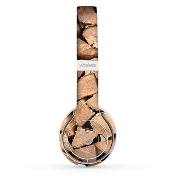 The Chopped Wood Logs Skin Set for the Beats by Dre Solo 2 Wireless Headphones