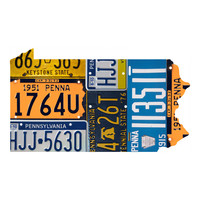 Pennsylvania License Plate wall decal