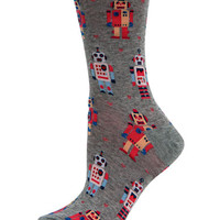 Hot Sox Robots Crew Socks