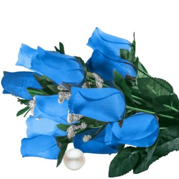Baby Blue Bouquet | Pearl Roses®