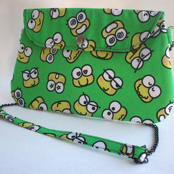 Keroppi Clutch Purse with Chain Strap / Sanrio Bag