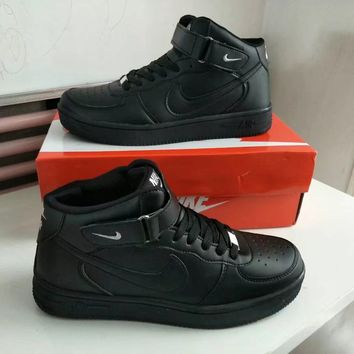 """""""Nike Air Force 1"""" Unisex Sport Casual High Help Plate Shoes Couple Fashion Simple Sneakers"""