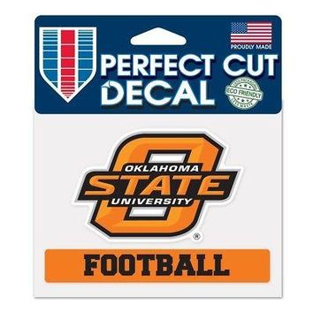 "Licensed Oklahoma State Cowboys NCAA 4.5""x5.75"" Football Perfect Cut Car Decal 517036 KO_19_1"