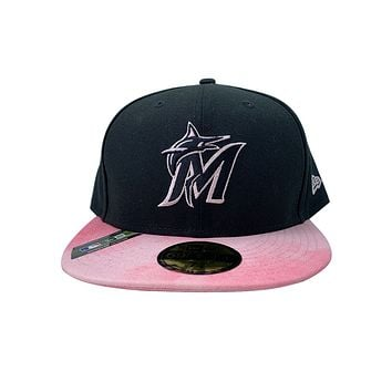 New Era 59FIFTY Miami Marlins 2019 MLB Mother's Day On-Field Black Fitted Cap