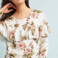 Floral Ruffled Pullover