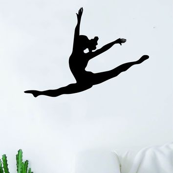 Dancer Leap Quote Wall Decal Sticker Bedroom Living Room Vinyl Art Home Sticker Decoration Decor Teen Nursery Inspirational Dancer Dancing Girls Leap Ballerina Cute