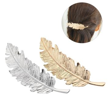 2pcs Feather Shaped Hair Accessories