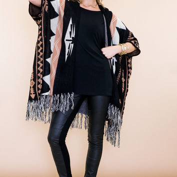 Mahut Tribal Cardigan Sweater