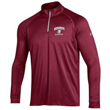 Mississippi State Bulldogs Under Armour Quarter Zip Tech T-Shirt – Maroon