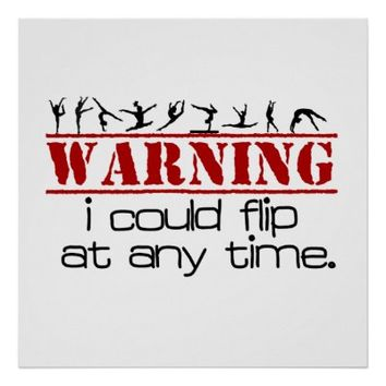 I Could Flip at Any Time -Gymnastics Poster