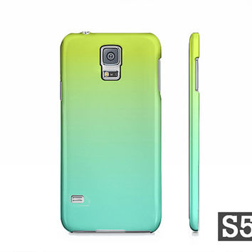Lime Green & Turquoise Ombre - Samsung Galaxy S5 S4 S3 Slim Fit Hard Case - Also Available For iPhone 5S 5 4S 4