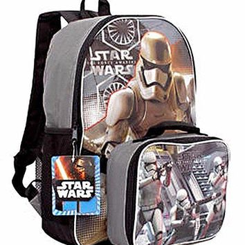 Disney Star Wars the Force Awakens 16 Inch Backpack with Detachable Lunch Kit