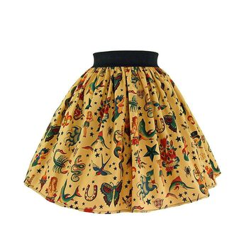 Hemet Pinup Tattoo Art Skirt