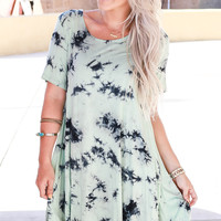 COMES IN WAVES TEE DRESS