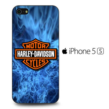 Harley Davidson Blue Flame iPhone 5S Case