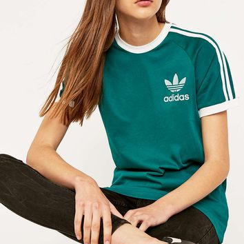adidas Originals Sports Essential Turquoise T-Shirt - Urban Outfitters