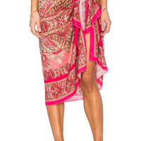 Sauvage Band of Gypsies Sarong in Coral & Cream