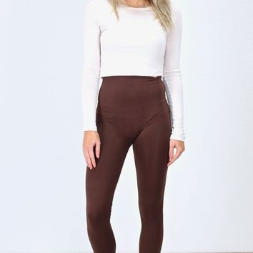 Thick Seamless Leggings {Dk. Brown}