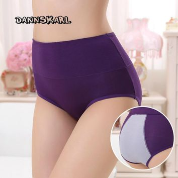 The new Women's  Panties waist abdomen sewing woman menstruation physiological  panties widened prevent side leakage underpants