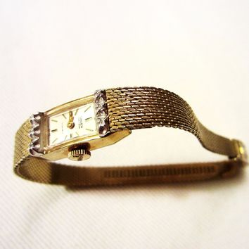 Gruen Percision Bracelet Watch Gold Plated 17 Jewels