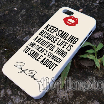 marilin live quote case for iPhone 4/4s/5/5s/5c/6/6+ case,iPod Touch 5th Case,Samsung Galaxy s3/s4/s5/s6Case, Sony Xperia Z3/4 case, LG G2/G3 case, HTC One M7/M8 case