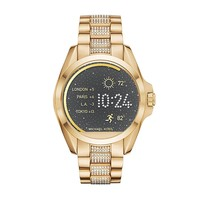 Michael Kors Access Unisex 45mm Goldtone Bradshaw Touchscreen Smart Watch