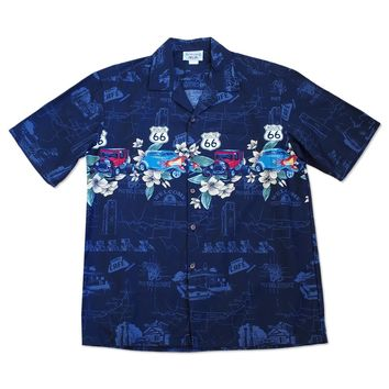 good ol' days black hawaiian border shirt