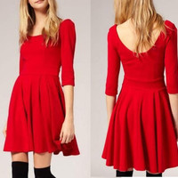 Retro sweet temperament dress BAHBB
