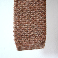 Pendleton Square End Tan Knit Tie Vintage GIft for Him