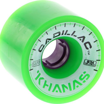 Cadillac Khana 66mm 83A Green/Purple Longboard Wheels